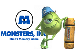 Monsters inc. Memory game